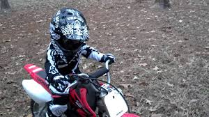 motocross gear for girls 3 year old wreck first time on dirtbike honda 50 youtube
