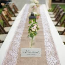fabric for table runners wedding 5pcs 30x275cm lace burlap table runnersh hessian burlap table runner