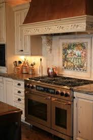 kitchen murals backsplash italian style tile backsplash over stove style ideas with