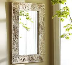 Pottery Barn Mirrors Bathroom by Floria Carved Mirror Eclectic Mirrors Pottery Barn Mirrors