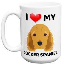 Animal Mug I Love My Cocker Spaniel Dog Animal Novelty Ceramic Coffee Mug Cup