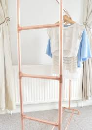 copper pipe clothing rail garment rack clothes storage with