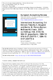 international accounting 1st edition timothy s doupnik and
