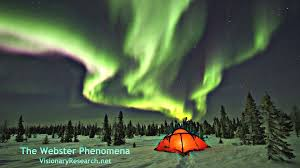 what creates the northern lights et dancing as northern lights the webster phenomena the webster