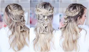 272 best half up half down with braids images on pinterest mixed braid half up cute girls hairstyles youtube