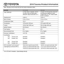 2015 toyota tacoma horsepower 2016 toyota tacoma pricing