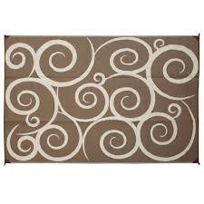 direcsource ltd reversible patio mat 9 u0027 x 12 u0027 brown cream swirl