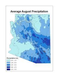 Arizona Temperature Map by Temp Precip Arizona State Climate Office