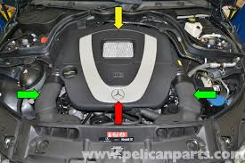 mercedes benz w204 engine cover removal 2008 2014 c250 c300