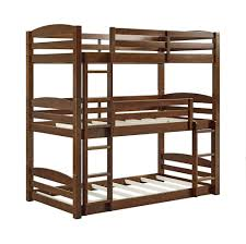 Heavy Duty Triple Bunk Bed Durable Sturdy Convertible To Daybed 3