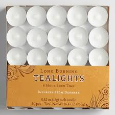 6 hour tea lights white long burning tealight candles 50 pack world market