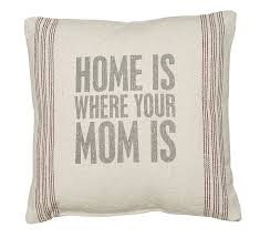 home decor gifts for mom amazon com primitives by kathy home where mom 9 stripe pillow 15