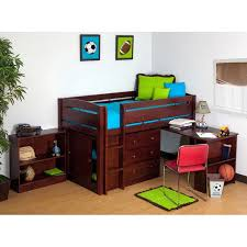 canwood whistler storage loft bed with desk bundle cherry