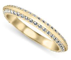 gold womens wedding band women s wedding rings knife edge diamond wedding ring in yellow
