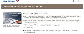 Store Business Credit Cards Targeted Bank Of America Cash Rewards For Business Credit Card