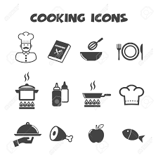 symbole cuisine icônes de cuisine symboles de vecteur mono clip libres de