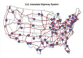 map us interstate system map of the u s interstate highway system the interstate highway