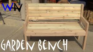 Outdoor Garden Bench Plans by Building A Garden Bench Steve U0027s Design Youtube