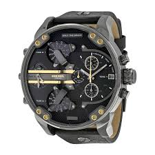diesel black friday deals diesel mr daddy 2 0 black dial black leather men u0027s watch dz7348