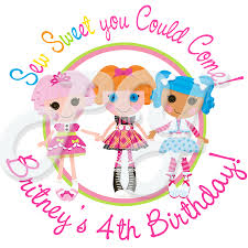 lalaloopsy personalized birthday stickers
