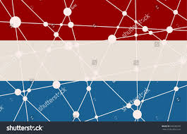 Flag Of Netherlands Flag Netherlands Low Poly Concept Triangular Stock Vector