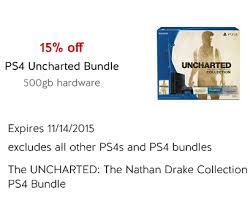 target cartwheel ps4 black friday ps4 uncharted bundle system only 297 49 at target was 349 99
