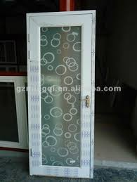 Frosted Glass Bathroom Doors by Pvc Glass Bathroom Doors With Pattern Frosted Glass Interior Doors