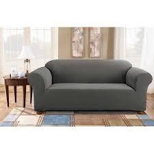 one piece stretch sofa slipcover sure fit simple stretch subway one piece sofa slipcover walmart com