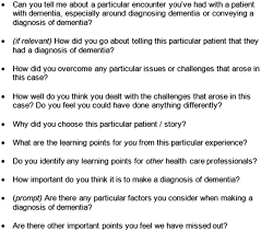 timely u0027 diagnosis of dementia what does it mean a narrative