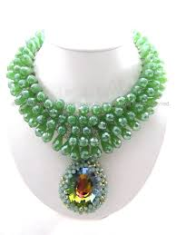 green fashion necklace images Back in black fashion necklace thai fashion jewelry JPG