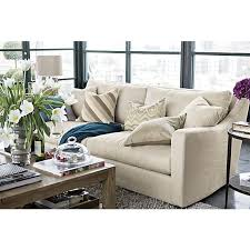 crate and barrel down filled sofa verano sofa in sofas crate and barrel living rooms pinterest