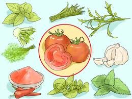 how to match herbs and spices to vegetables with pictures