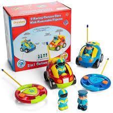 cartoon race car prextex pack of 2 cartoon r c police car and race car radio