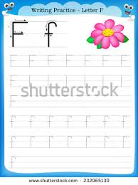 writing az alphabet exercises game kids stock vector 613776167