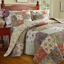 floral patchwork quilt bedding set on sale 100