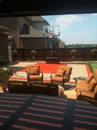 backyard half court with a tiled basketball hoop photo album great