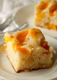 peach cobbler snack cake