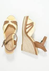 tom tailor women wedge sandals platform sandals yellow tom