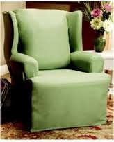 sure fit slipcovers wing chair wing chair green slipcovers bhg com shop