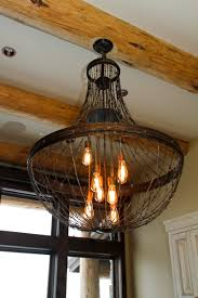 ironglass lighting barbed wire chandelier