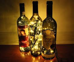 Wine Bottles With Lights Dramatic Wine Bottle Lights 6 Steps With Pictures