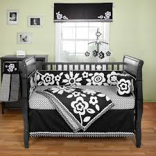 Zebra Nursery Bedding Sets by Black And White Zebra Print Baby Bedding Sets With Green Reverse