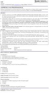 Sample Resume Templates For Freshers by Sas Professional Professional Resume Samples