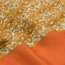 buy online brandy punch orange u0026 russet brown hand printed soft