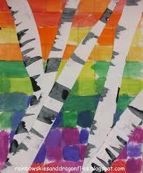 rainbow skies u0026 dragonflies color wheel skies with birch trees