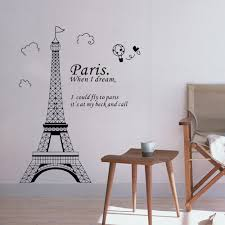Eiffel Tower Decorations Romantic Paris Eiffel Tower Beautiful View Of France Diy Wall