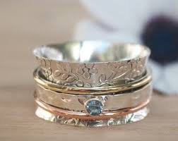 spinner rings spinner ring etsy