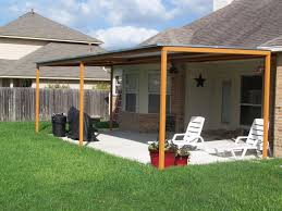 natural simple design of the patio cover can be decor with brick