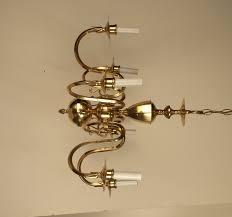 Brass Chandelier Vintage Brass Chandelier Small 6 Arm Chandelier Gold