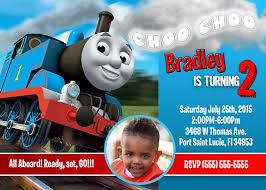 create thomas train birthday invitations ideas amazing